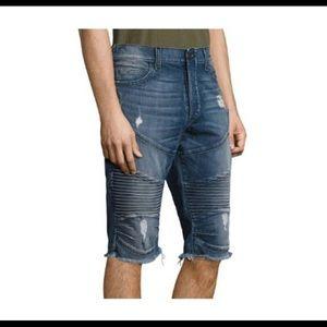 True religion distressed jean shorts 32